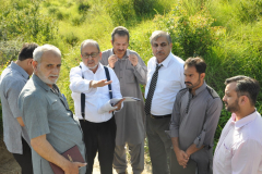 Rector's visit to Dhamtour campus site August 18, 2016