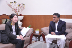 Visit of Yusuke Shindo, Minister Deputy Chief of Mission, Embassy of Japan, in Islamabad April 12, 2019